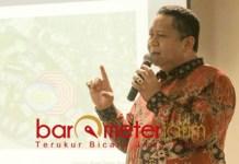 KONSEP BESAR: Whisnu, tawarkan konsep besar soal Surabaya. | Foto: Barometerjatim.com/WIRA HARLIJADI