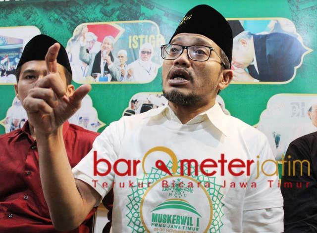 LAWAN PEMIKIRAN KHILAFAH: Gus Salam, masih ada pemikiran khilafah pasca HTI dibubarkan. | Foto: Barometerjatim.com/ROY HS