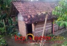 KEMISKINAN: Angka kemiskinan di Jatim masih tinggi, salah satu rumah di perdesaan. | Foto: Barometerjatim.com/ROY HS