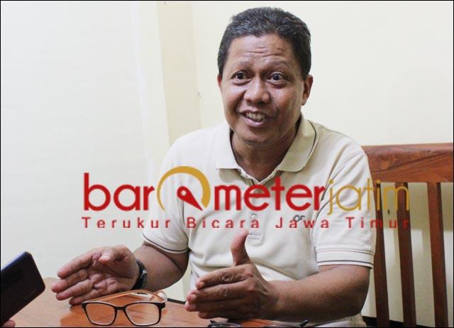 JANGAN SP3: Hari Cipto Wiyono, Palda jangan SP3-kan kasus Japung Bambang DH. | Foto: Barometerjatim.com/ROY HS