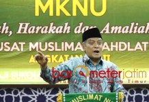 MKNU MUSLIMAT NU: KH Said Aqil Siroj di acara MKNU PP Muslimat NU. | Foto: Barometerjatim.com/ROY HS