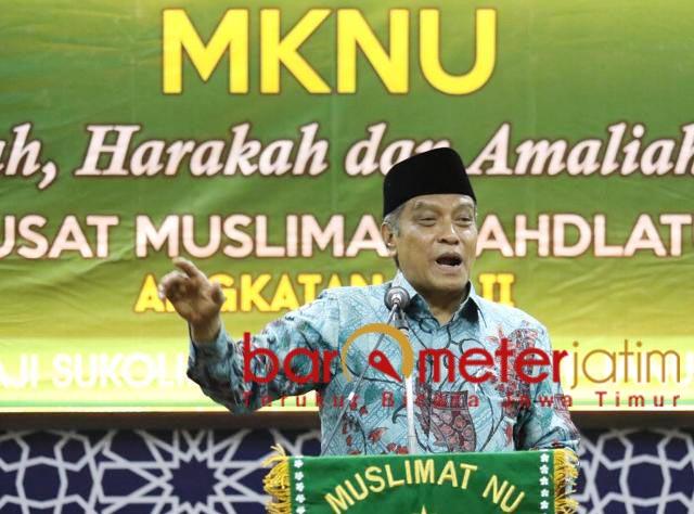 MKNU MUSLIMAT NU: KH Said Aqil Siroj di acara MKNU PP Muslimat NU, Jumat (10/1/2020). | Foto: Barometerjatim.com/ROY HS