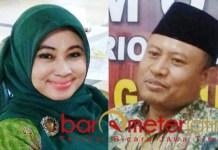 BURU REKOM PKB: Kartika Hidayati dan Sholahuddin, berebut rekom PKB di Pilbup Lamongan. | Foto: Barometerjatim.com/HAMIM ANWAR