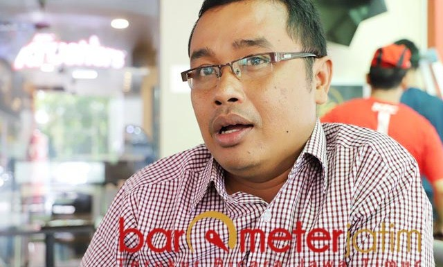 SEMANGAT BANTENG: Ambudi Putra Laksana, usung semangat banteng di Pilbup Sidoarjo. | Foto: Barometerjatim.com/ROY HS