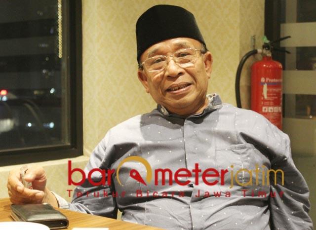 DUKUNG CAK NUR: Haji Masnuh, Cak Nur semakin mendapat simpatikalau disudutkan. | Foto: Barometerjatim.com/ROY HS