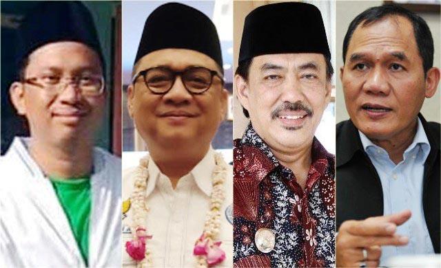 PILBUP SIDOARJO: (Dari kiri) Ahmad Muhdlor, Kelana Aprilianto, Nur Ahmad Syaifuddin dan Bambang Haryo. | Foto: IST