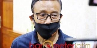 MOBIL PCR: Suban Wahyudiono, BNPB akan tambah satu lagi mobil PCR untuk Jatim. | Foto: Barometerjatim.com/ROY HS