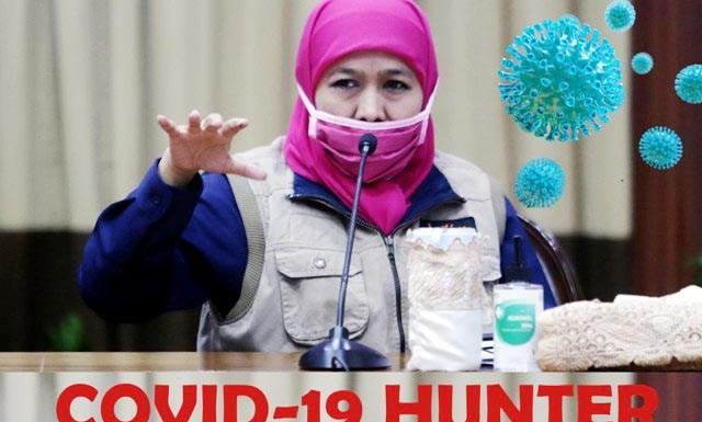 """PEMBURU CORONA: Khofifah bentuk tim """"Covid-19 Hunter"""" untuk menyisir PDP dan OTG.   Foto: Barometerjatim.com/ROY HS"""