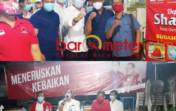 PENERUS RISMA: Eri Cahyadi bersama warga Kecamatan Sukolilo, penerus kebaikan Risma.   Foto: Barometerjatim.com/IST