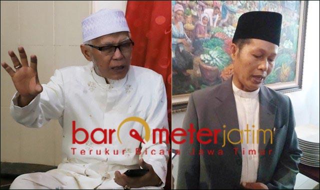 TERBELAH: KH Tawwab Hadlory (kiri) dan Maulana Ischak, beda pilihan di Pilwali Surabaya 2020. | Foto: Barometerjatim.com/ROY/ANDRIAN