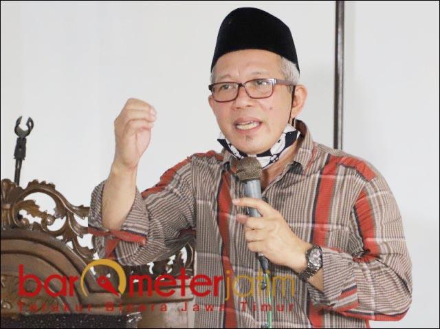 NU TETAP UTUH: H Ahmad Khoiri, pilih Kelana Aprilianto-Astutik tak akan pecah Nahdlatul Ulama (NU). | Foto: Barometerjatim.com/ROY HS