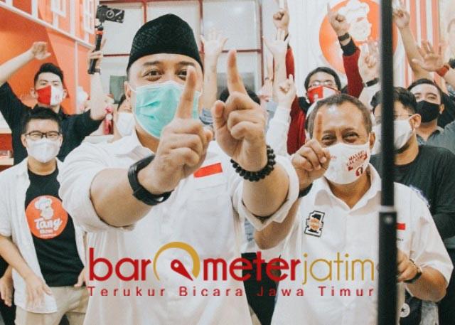 TOLAK CONTEKAN: Ari Cahyadi-Armuji, tolak debat Cawali-Cawawali Surabaya 2020 pakai contekan. | Foto: Barometerjatim.com/ROY HS