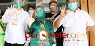 PILBUP SIDOARJO: Haji Masnuh (kanan), Kelana-Dwi Astutik siap bersinergi dengan Pj Bupati.   Foto: Barometerjatim.com/ROY HS
