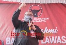 SURABAYA BERSAMA WONG CILIK: Saleh Ismail, jangan alergiwong cilik dalam membangun Kota Surabaya. | Foto: Barometerjatim.com/ROY HS