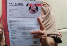 TAK ADA PELANGGARAN: Surat Ri Rismaharini yang mengajak warga coblos Eri Cahyadi-Armuji. | Foto: Barometerjatim.com/ROY HS