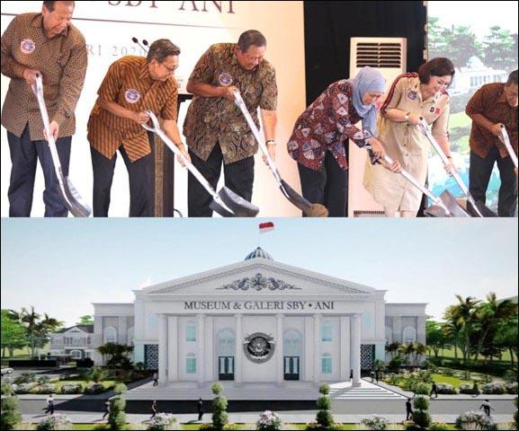MUSEUM SBY-ANI: Groundbreaking Museum SBY-Ani turut dihadiri Gubernur Jatim Khofifah, 22 Februari 2020. | Foto: IST