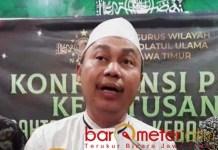 CABUT PERPRES 74/2013: KH Safrudin Syarif, biar tuntas cabut juga Perpres 74/2013 terkait miras.   Foto: Barometerjatim/ROY HS