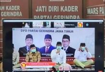 GERINDRA NUZULUL QUR'AN: Anwar Sadad (tengah) saat peringatan Nuzulul Qur'an Partai Gerindra Jatim. | Foto: Barometerjatim.com/ROY HS