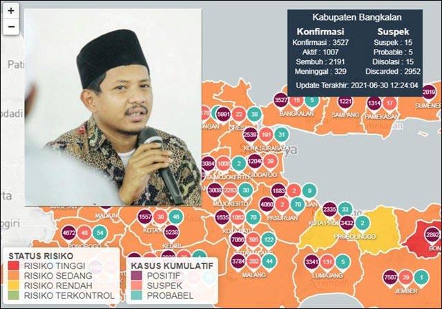 BANGKALAN BALUM AMAN?: Ra Nasih, orang-orang meninggal di Bangkalan dengan ciri-ciri Covid-19 terus bertambah.   Foto: Barometerjatim.com/IST