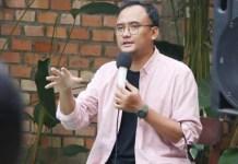 KHAS GENERASI MUDA: Dimas Oky Nugroho, tampil tangguh khas generasi muda. Modal sebagai ketua IKA UA.   Foto: IST