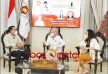 KAMISAN PERDANA: Diskusi perdana Kamisan, Gerindra hadirkan dua kadernya politikus perempuan. | Foto: Barometerjatim.com/ROY HAS