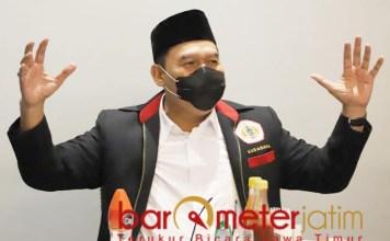 TIGA EMAS: Bambang Haryo, pesilat Surabaya siap persembahkan 3 medali emas untuk Jatim.   Foto: Barometerjatim.com/ROY HS