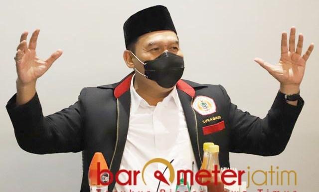 TIGA EMAS: Bambang Haryo, pesilat Surabaya siap persembahkan 3 medali emas untuk Jatim. | Foto: Barometerjatim.com/ROY HS