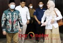 KELILING JATIM: Anwar Sadad dan Mulan Jameela dalam kunjungan Partai Gerindra di Jatim. | Foto: Barometerjatim.com/ROY HS