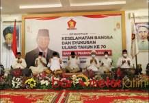 ISTIGHOTSAH: Gerindra Jatim gelar istighotsah sekaligus syukuri ultah ke-70 Prabowo Subianto. | Foto: Barometerjatim.com/ROY HS