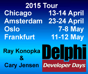 Delphi Developers Days 2015 Tour