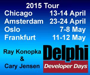 Delphi Developers Days 2015 Tour