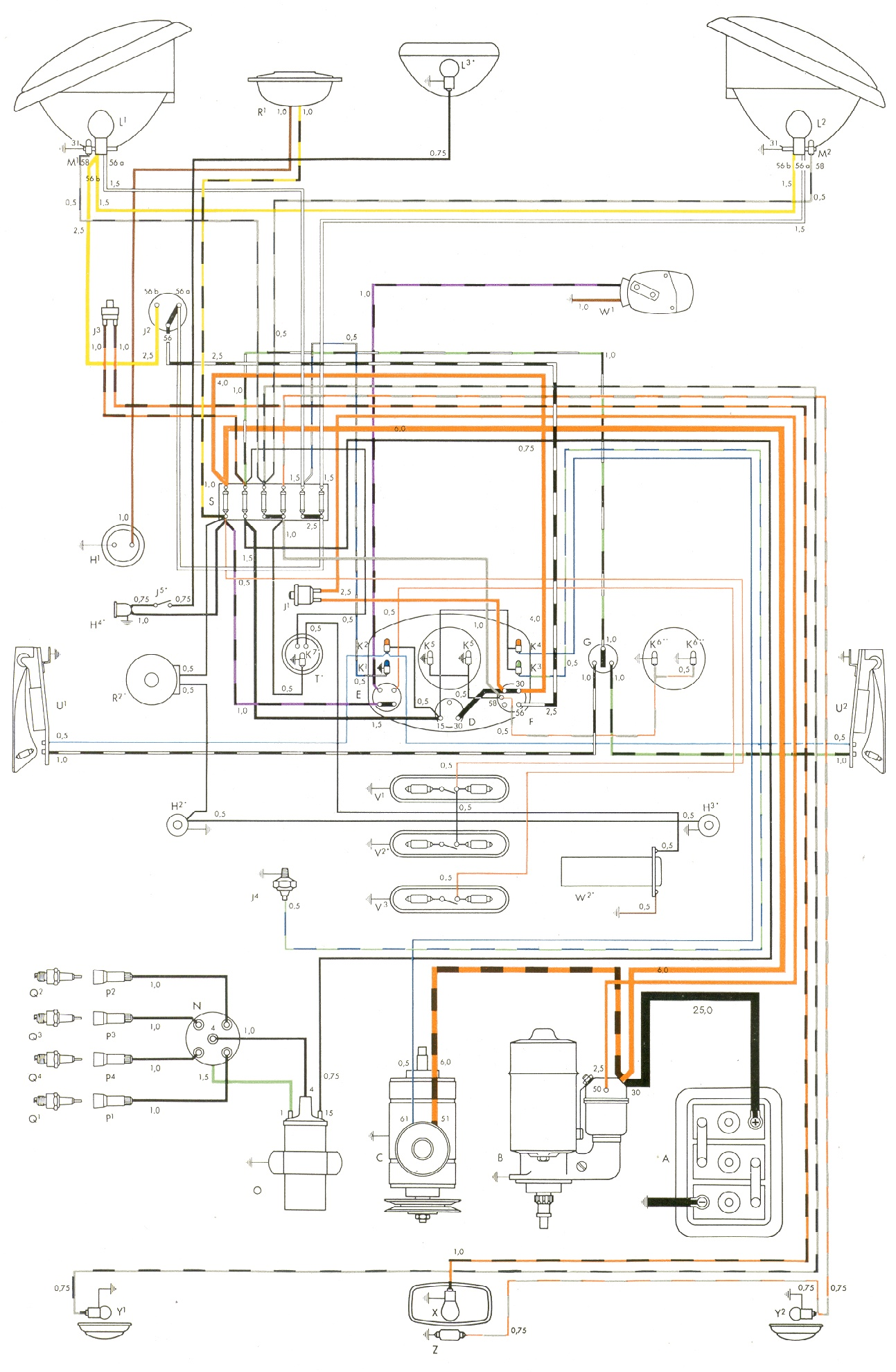 1969 vw beetle ignition coil wiring diagram truck lite led headlight bus free engine image for user