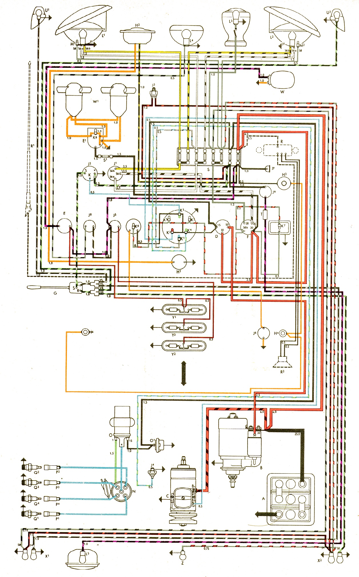 71 vw bus wiring diagram poe cat5 76 wire auto