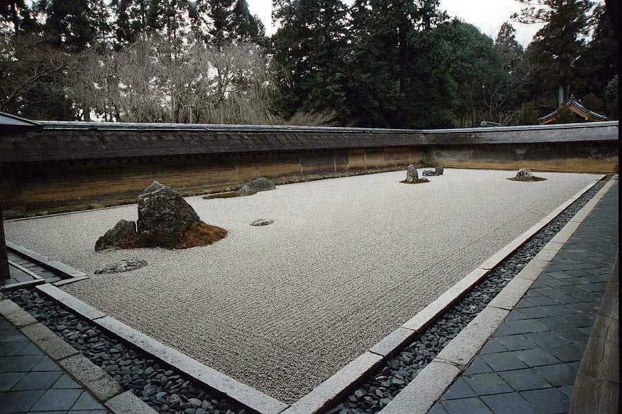 Japanese Rock Garden Karesansui kusuyama