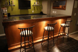 Custom 9 Foot Bar Project Easy Home Bar Plans