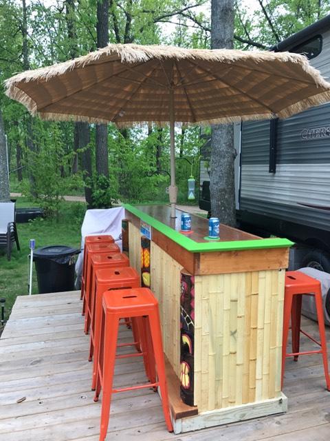 tiki bar styles easy home bar plans