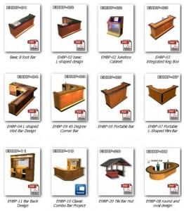 home bar plans catalog