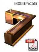 L-shaped wet bar with keg box