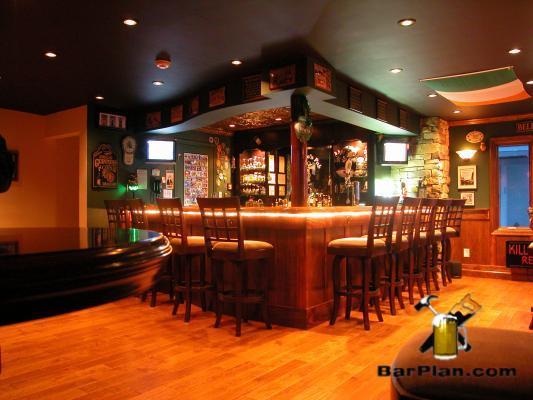 Irish Pub in the Garage  Easy Home Bar Plans