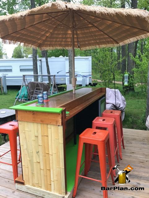 backyard bar plans easy home bar plans