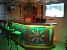 Nautical Theme Home Bar