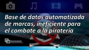 Base de datos automatizada de marcas, ineficiente para el combate a la piratería