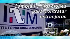 Cambian obligaciones para contratar extranjeros