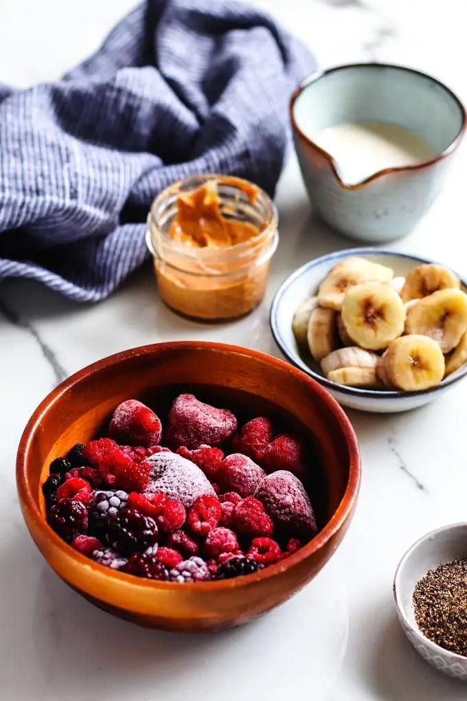 綜合莓果果昔碗 (5 樣食材) Mixed Berry Smoothie Bowl | | Barrel Leaf 桶子葉
