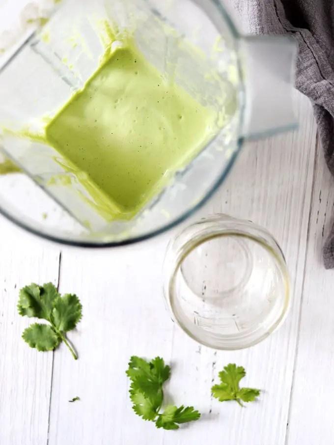 全植物濃郁芫荽綠田園沙拉醬 (8 樣食材) Vegan Creamy Cilantro Green Ranch Dressing | | Barrel Leaf 桶子葉