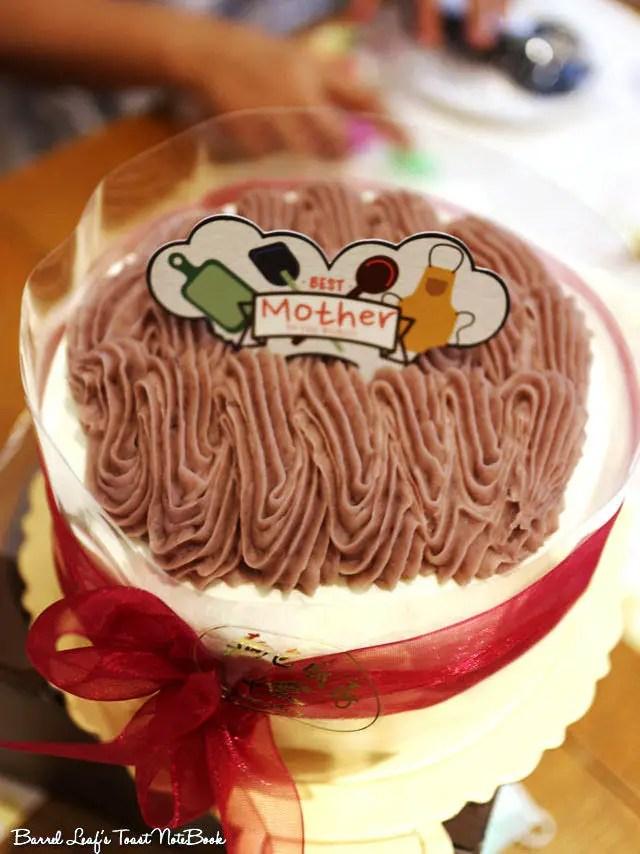 【捷運西門站】麵包廚房 Artisan Bakery 芋頭蛋糕 重本芋泥奶濃 母親節蛋糕     Barrel Leaf 桶子葉