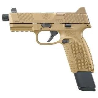 "FN 509 TACTICAL 9MM FDE 4.5"" THRD 1 17RD 2 24RD"