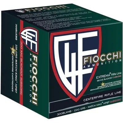 FIOCCHI AMMO 300BLK 220GR HPBT MK SUBSONIC 25/20 (