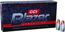 CCI 3509 Blazer Centerfire Pistol Ammo 9mm Luger 115Gr 50Rnd FMJ Blazer