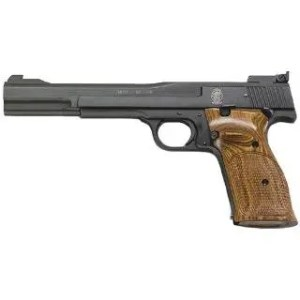 "SMITH AND WESSON 41 22LR 7"" TS AS WOOD TARGET GRIP 10RD"